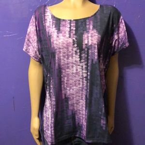 Apt 9 Purple lights shirt 1X. Purple lilac women's